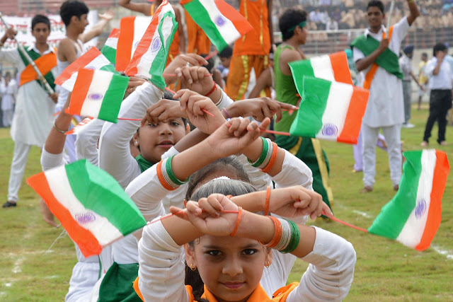 Happy Independence Day Celebration on School
