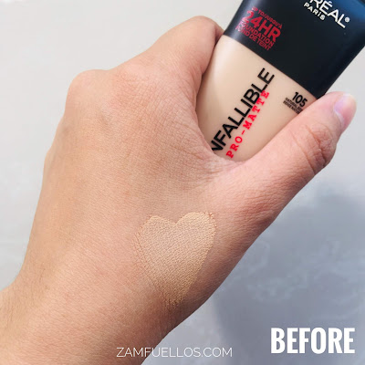 L'oreal Infallible Pro-Matte 24HR Foundation Review