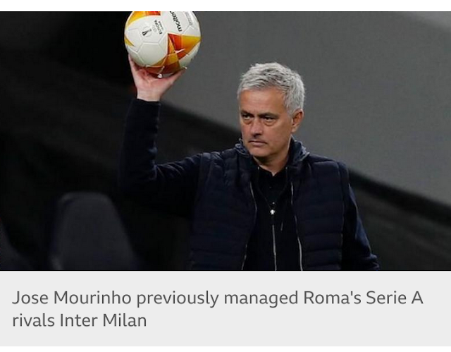 Roma appoints Mourinho as manager from the start of next season