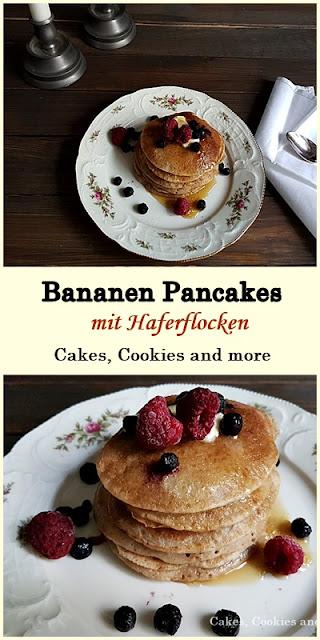 Rezept für Bananen Pancakes mit Haferflocken