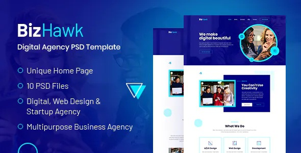 Best Corporate Agency PSD Template