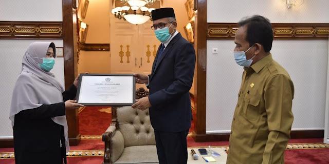 Nova Iriansyah dapat Penghargaan dari DJKN Wilayah Aceh