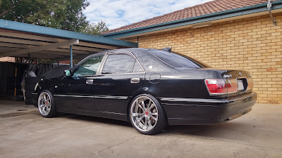 "4x 19"" SSR Vienna Merisia Wheels Fitted to JZS171 Crown LHS Rear"