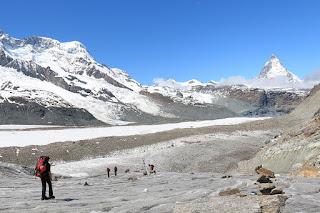 Na lodowcu Gornergletscher