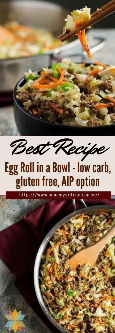 Egg Roll in a Bowl - low carb, gluten free, AIP option #dinnerrecipe #food #amazingrecipe #easyrecipe
