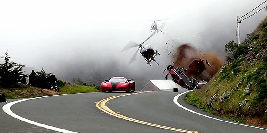 Cascadorii fabuloase la filmările Need For Speed
