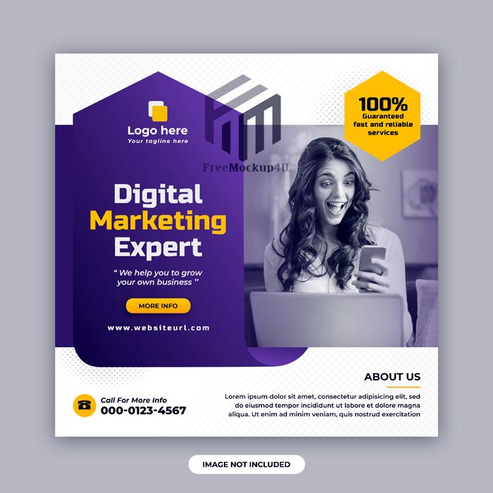 Digital Marketing Corporate Social Media Post Web Banner Design Template