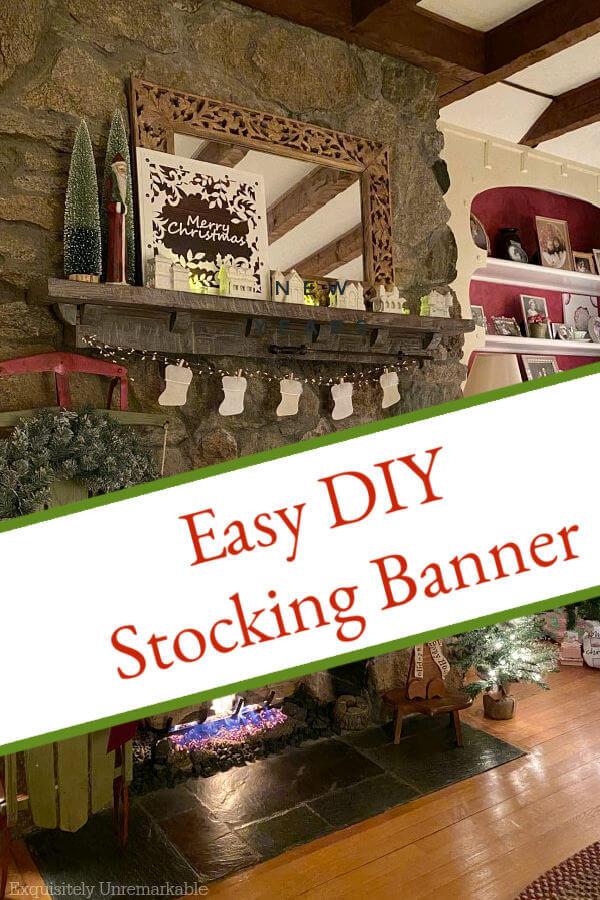 Easy DIY Stocking Banner