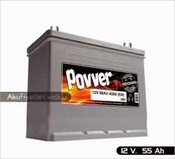 povver akü silver serisi 12 volt 55 amper
