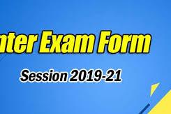 इंटर परीक्षा 2021 सत्र 2019-21 परीक्षा फॉर्म एवं फ़ीस पीडीएफ़ में डाउनलोड लिंक परीक्षा फार्म स्कूल और कॉलेज द्वारा भरा जायेगा