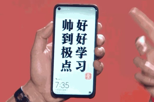 Huawei wide-width Nova 4 display was first introduced in the real world