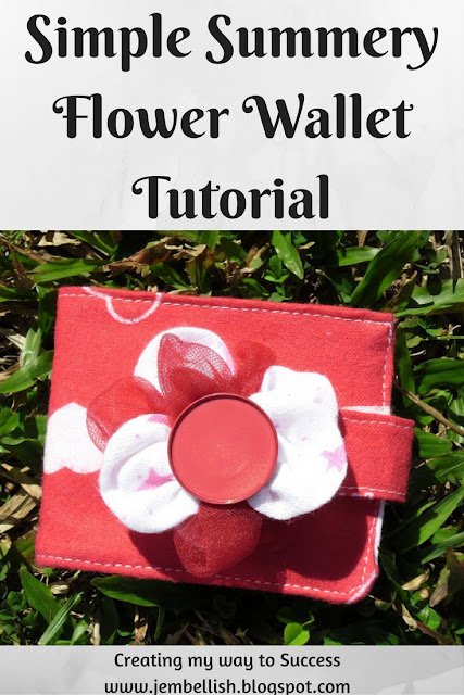 Super Simple Flowery Wallet