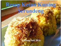 Resep Ketan Kuning Serundeng ( Yellow Sticky Rice Serundeng Recipe )