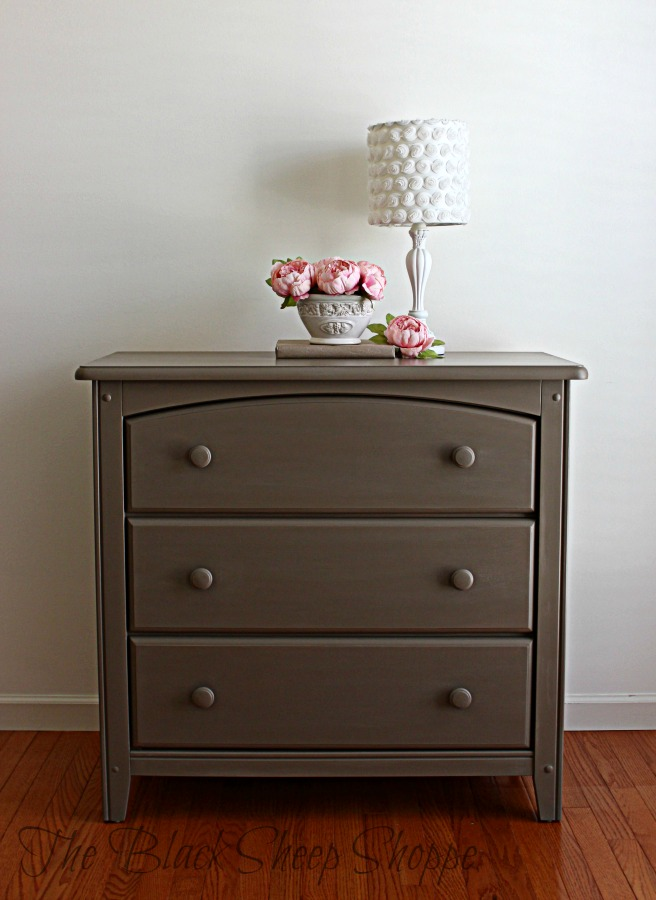 3-drawer dresser painted in a sophisticated neutral.