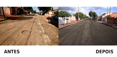 Mais uma rua foi recapeada na Vila Boa Esperança