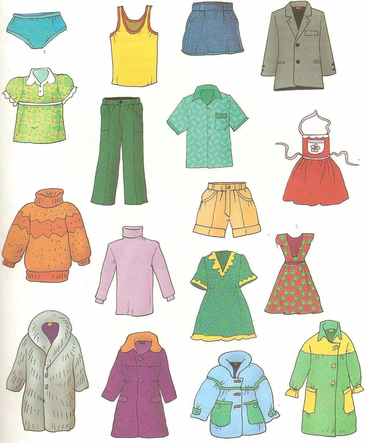 Зимняя одежда картинки для детей
