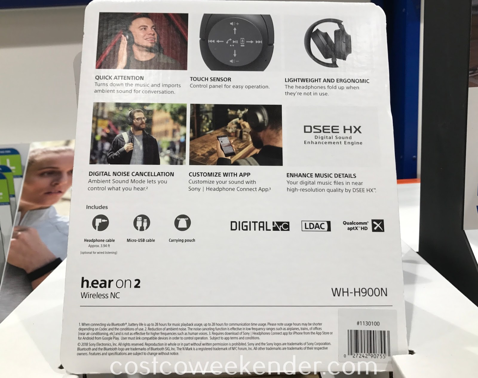 Sony h.ear on 2 Noise Canceling Wireless Headphones WH-H900N can connect wirelessly or with a cable