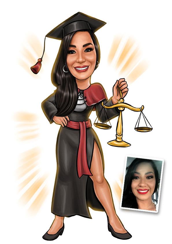 caricatura formanda direito