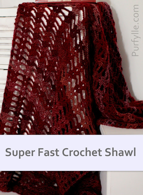 Super Fast Crochet Shawl Pattern - Free Australian/UK & US pattern
