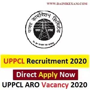 UPPCL ARO Recruitment 2020 Apply Online UPPCL ARO Assistant Review Officer (Samiksha Adhkari) Vacancy 2020, DainikExam com