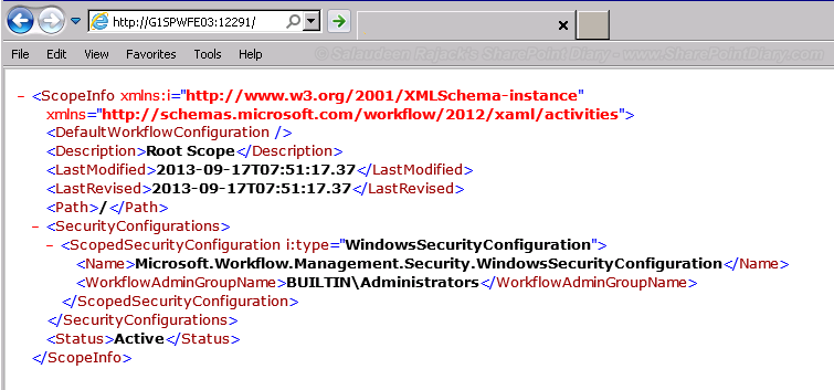 sharepoint 2013 workflow manager install verification