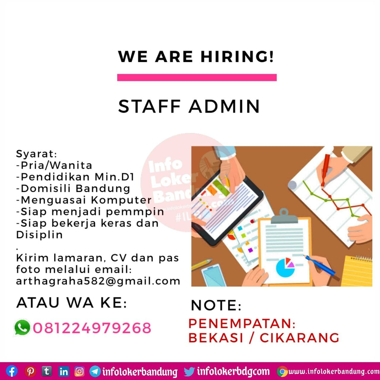 Lowongan Kerja Staff Admin CV. Artha Graha Bandung November 2020