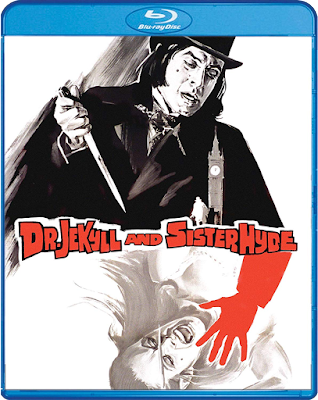 Cover art for Scream Factory's Blu-ray of DR. JEKYLL AND SISTER HYDE!
