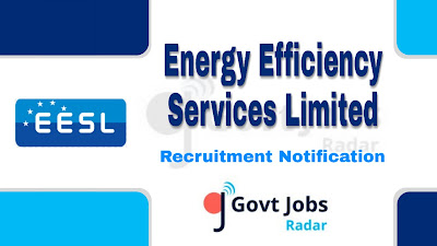 EESL Recruitment Notification 2019, govt jobs in India, central govt jobs, Latest EESL Recruitment Notification update