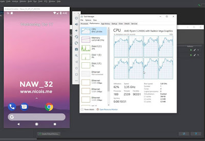 Akhirnya Android Virtual Devices (AVD) dapat berjalan lancar di platform AMD Ryzen