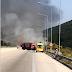Εγνατία Οδός :Αμάξι τυλίχθηκε στις φλόγες και κάηκε ολοσχερώς