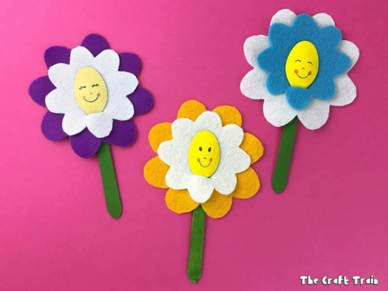 happy flower craft