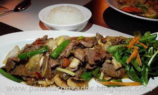 Soho thai restaurante Santiago salteado carne