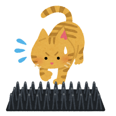 猫よけのイラスト(トゲトゲ)
