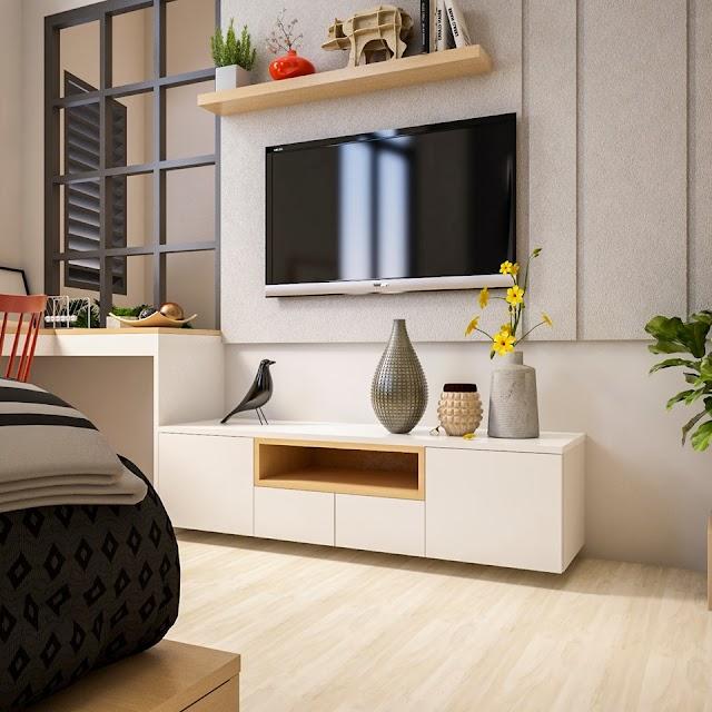 Nội thất phòng ngủ kiểu studio nhỏ xinh đầy tính nghệ thuật