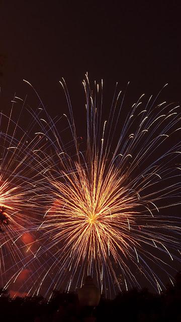 Fireworks, greeting, sparks, celebration.  Public holiday
