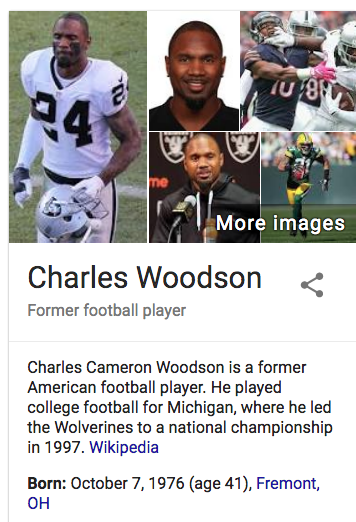 Free To Find Truth 24 93 Charles Woodson Oakland Raiders And