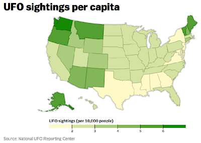 UFO Sightings Per Capita
