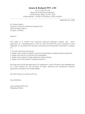 Organization Appointment Letter Sample