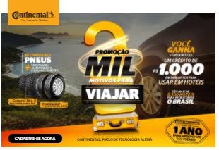 Cadastrar Promoção Mil Motivos Para Viajar Continental Pneus