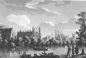 Eton College from Picturesque Views of the River Thames by S Ireland (1792)