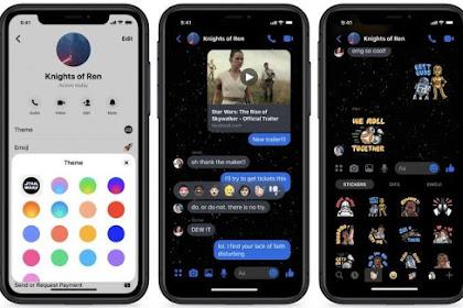 Facebook Messenger menghadirkan tema baru Star Wars dark theme