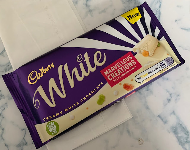 Cadbury Marvellous Creations White with Jelly Beans and Popping Candy