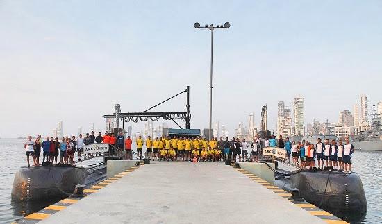 Triatlón 45 aniversario Flotilla de Submarinos Colombiana
