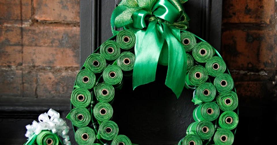 Dalmatian diy diy dog poop bag christmas wreath mini christmas tree