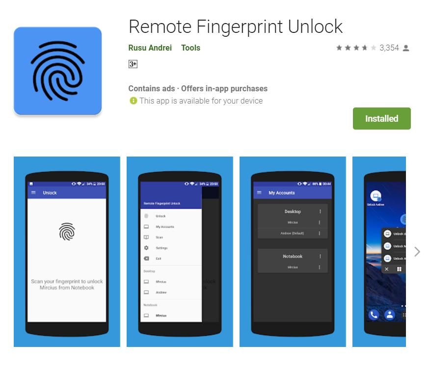 How to unlock computer with remote fingerprint unlock