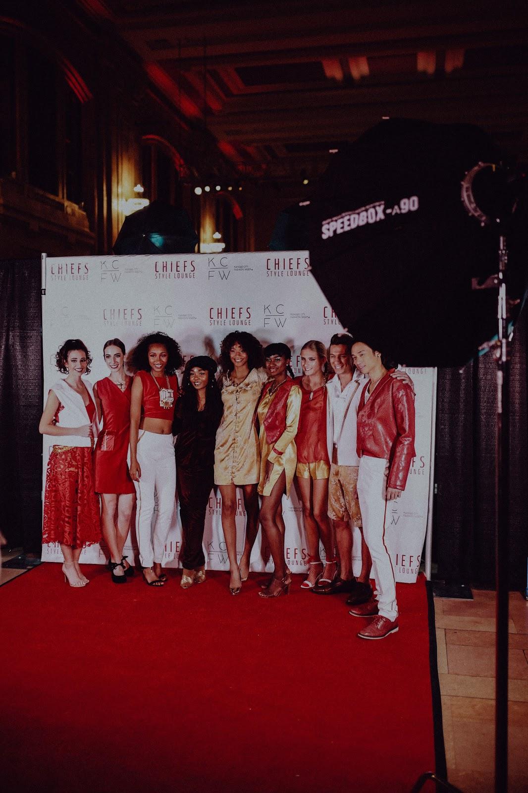Natasha Shangari KCFW models on the red carpet