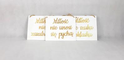 tabliczki hymn miłości wypożyczalnia dekoracji rzeszów ślubnażyczenie
