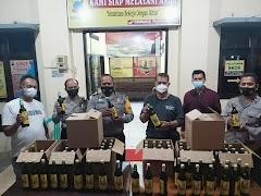 KRYD, Polsek Batang Kota Amankam Ratusan Botol Miras