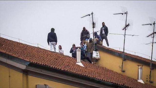 Mueren 6 amotinados en cárceles italianas por crisis de COVID-19