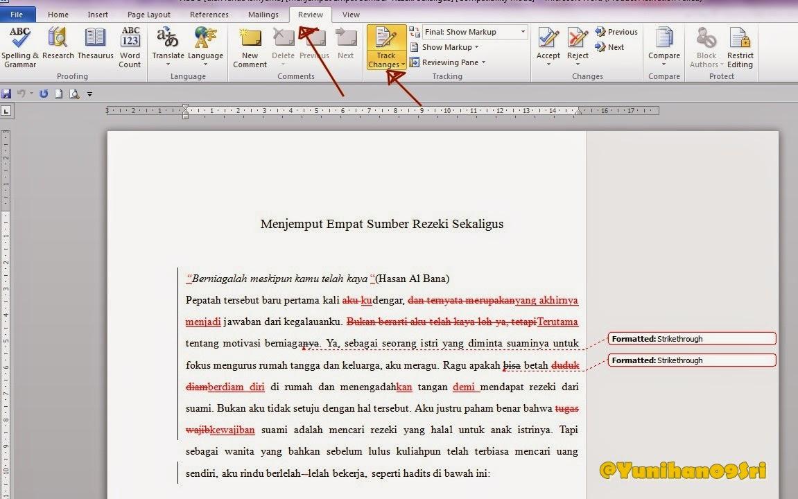cara mengedit naskah yang direvisi